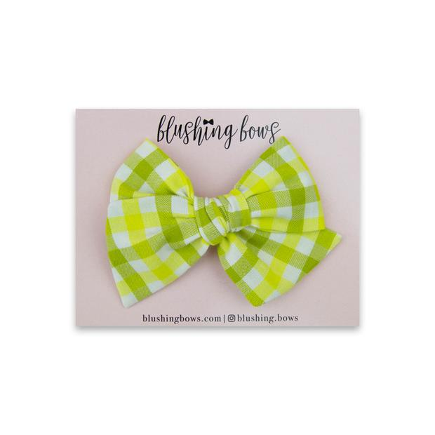 Wasabi Gingham $5 | Multiple Styles (Headband or Clip)