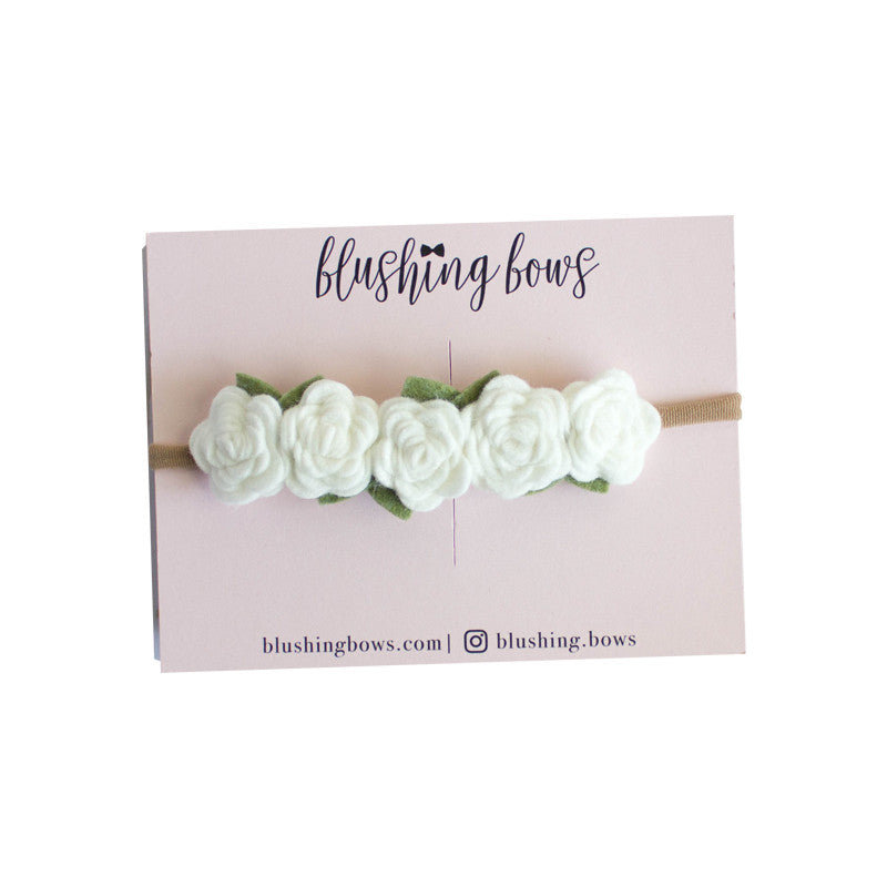 White Felt Flower Crown
