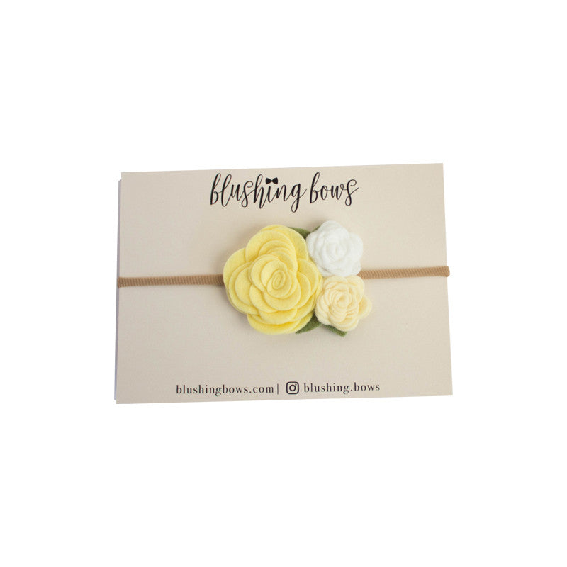 Light Yellow Felt Flower Crown
