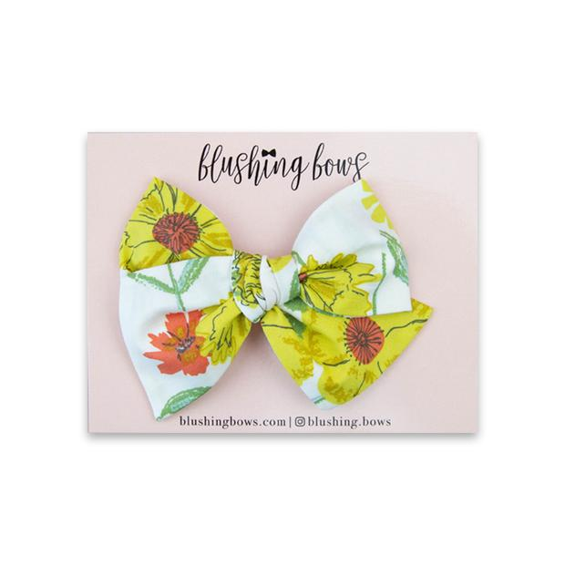 Yellow Floral $5 | Multiple Styles (Headband or Clip)