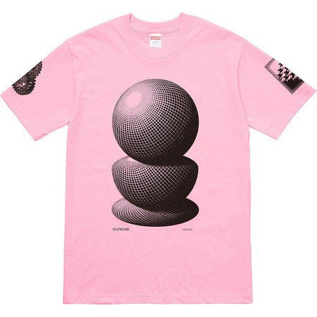 Supreme M.C Escher Three Spheres Tee SS17 Pink