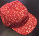 Supreme Fu*k Em ALL Denim Camp Cap FW15 Red