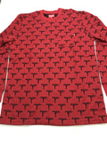 Supreme Jacquard Uzi L/S Pocket Tee FW15 Red