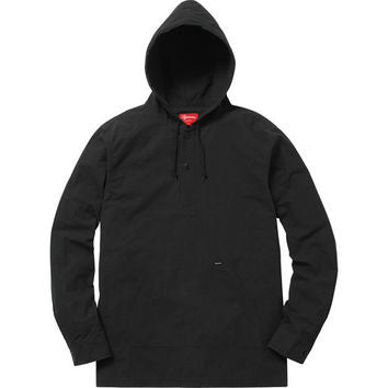 Supreme Hooded Ripstop Pullover Shirt SS16 Black