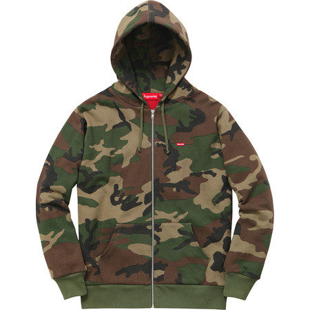 Supreme Small Box Logo Thermal Zip up FW15 Woodland