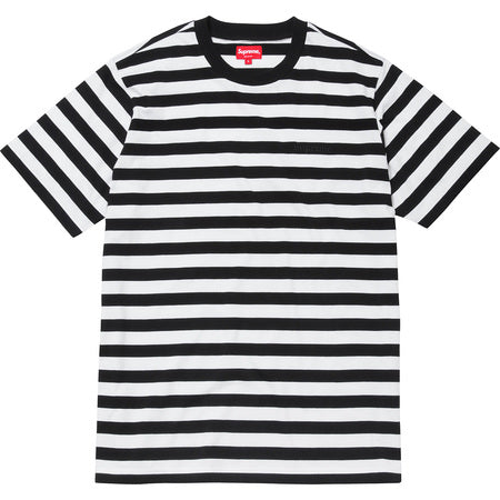 Supreme Bar Stripe Tee FW16 Black
