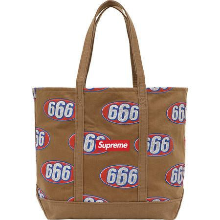 Supreme 666 Denim Tote SS17 Brown