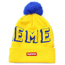Supreme New Era Banner Beanie FW15 Yellow