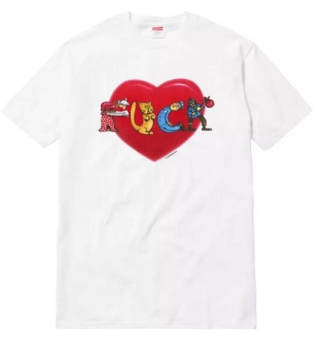 Supreme Fu*k Love Tee FW17 White
