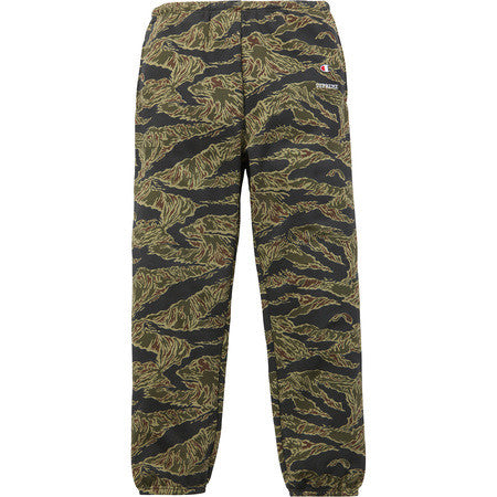 Supreme Champion sweatpants FW15 Olive tiger stripe