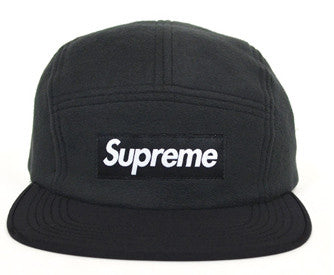 Supreme Polar Fleece Fitted Camp Cap FW15 Black