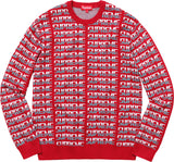 Supreme Repeat Sweater FW17 Red