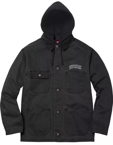 Supreme Hooded Chore Coat FW17 Black