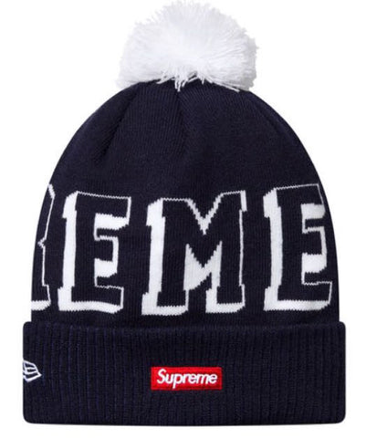 Supreme New Era Banner Beanie FW15 Navy