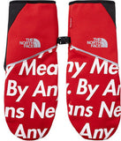 Supreme The North Face By Any Means Runners Gloves FW15 Red