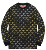Supreme Jacquard Uzi L/S Pocket Tee FW15 Black/Gold