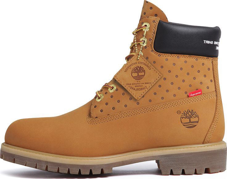 super cheap good texture really cheap Supreme x Timberland CDG 6 inch Prm boot Wheat