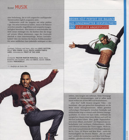 GQ Germany December 2007 - Chris Brown