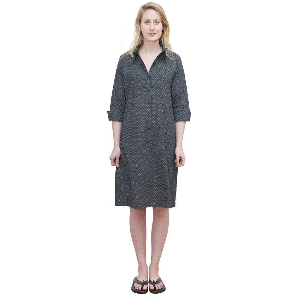 Tunic Dress, Black Dot