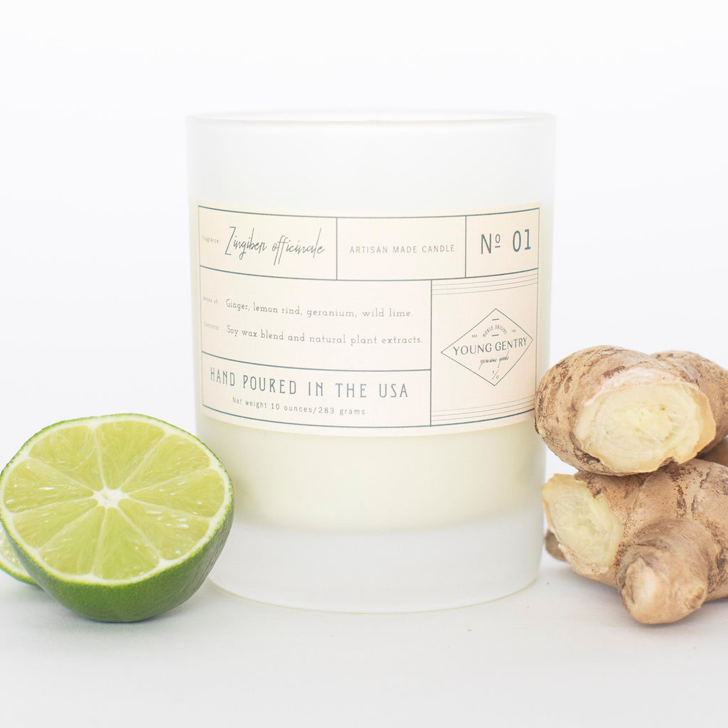 No 01 | Ginger, Lemon Rind, Geranium & Wild Lime