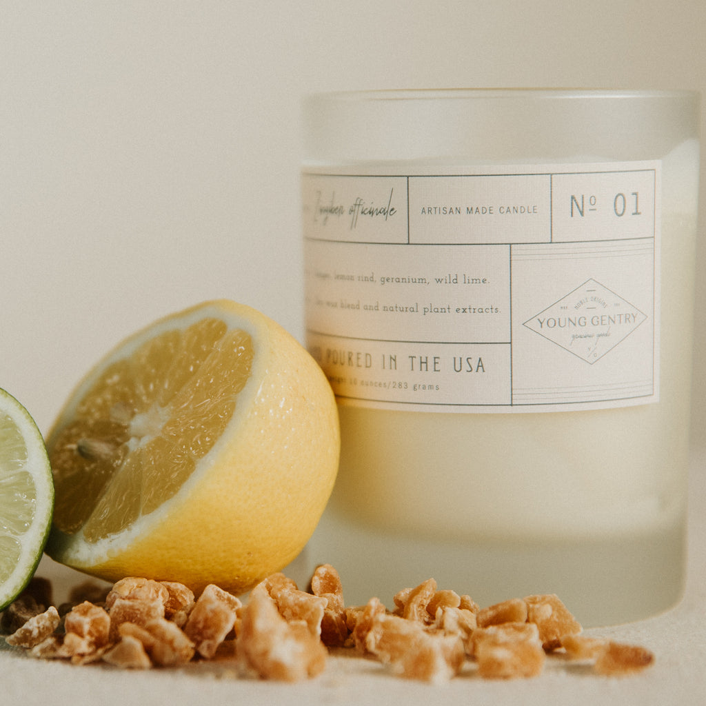 [No 01 | ginger, lemon rind, geranium & wild lime]