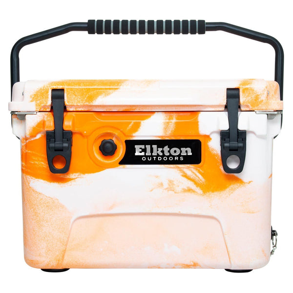 Elkton 20 Quart ice Chest Orange with handle