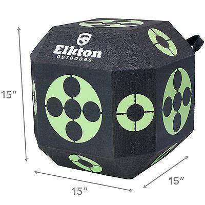 18-Sided Cube Archery Target With Self Healing XPE Foam