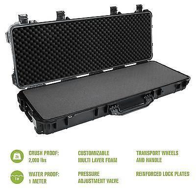 Hard AR Gun Case With Locking Holes & Auto Pressure Adjustment