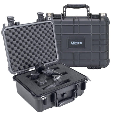 3 PISTOL HARD GUN CASE- TSA APPROVED: CRUSH RESISTANT & WATERPROOF