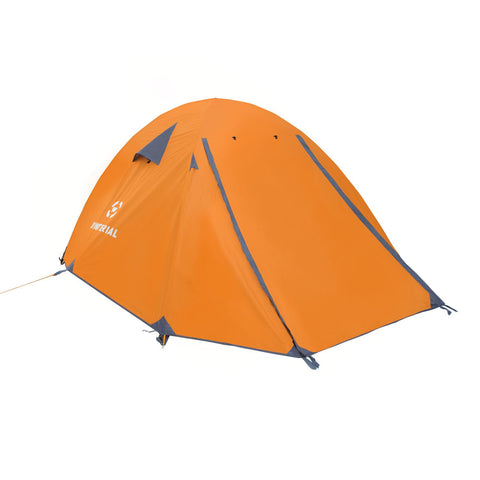 angled front view Winterial Oversized 3 Person Camping Tent