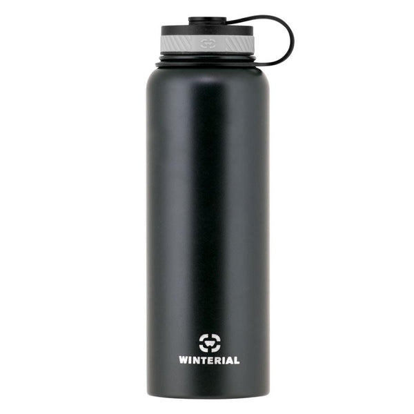 black 40oz insulated water bottle
