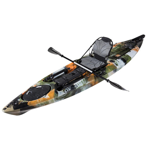12' Single Person Rudder Operated Sit On Top Fishing Kayak