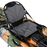 Rudder Operated Fishing Kayak: 12 Ft, Sit On Top, with Paddles, Rod Holders and Dry Storage Compartments