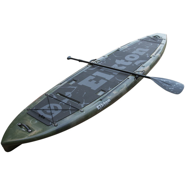 Elkton Outdoors 12' Hybrid IBIS Pro Stand-Up Fishing Paddleboard, Includes 2 Scotty, 2 Bungie, and 5 Multi-use Track Mounts