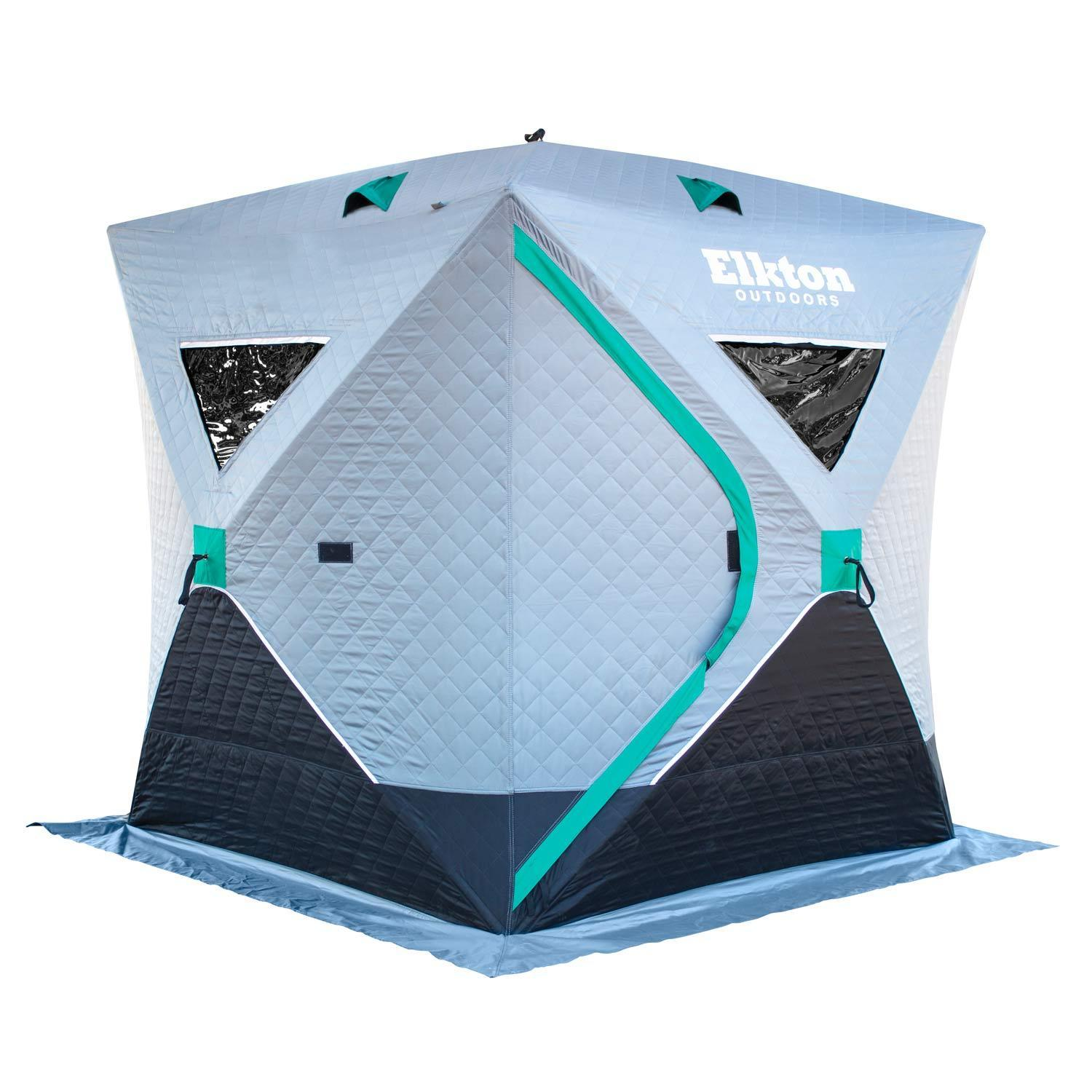 Insulated Premium Portable 3-Person Ice Fishing Tent With
