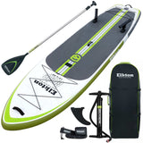 "12"" Inflatable Fishing Paddle Board Kit WIth 2 Fishing Rod Holders & Accessory Mount"