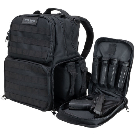 Range Backpack With Three Removable Pistol Pouches