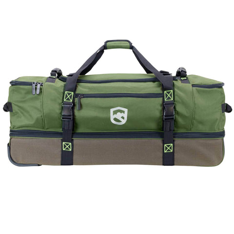 Rolling Fishing Duffle Bag With Retractable Handle