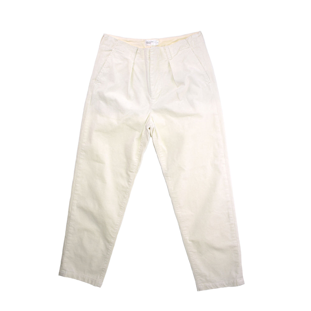 STILL BY HAND Relaxed Cord Pant Off White