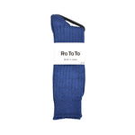ROTOTO Low Gauge Slub Sock Medium Blue