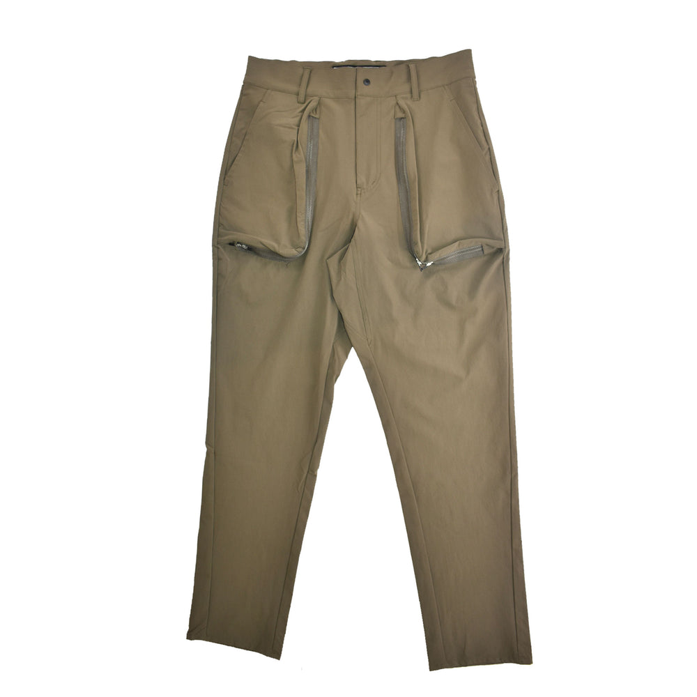 Chari & Co Multi-Zip Pant Khaki