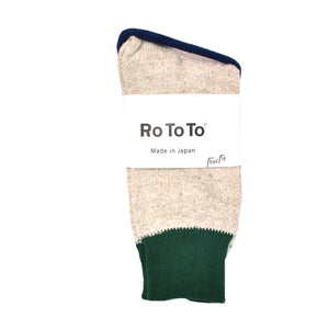 ROTOTO-DOUBLE-FACE-SOCKS-GREEN-BEIGE-SUNNYSIDERS-1.jpg