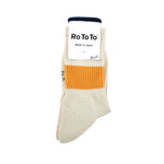 Crew Socks Silk Single Stripe (Ivory/Yellow)