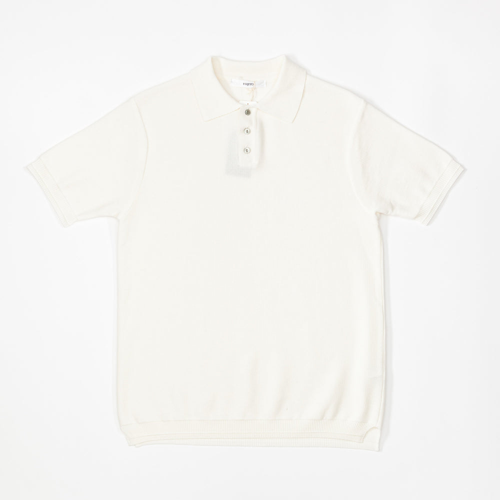 Knit Polo Shirt (White)