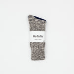 Low Gauge Slub Crew Socks (Grey)