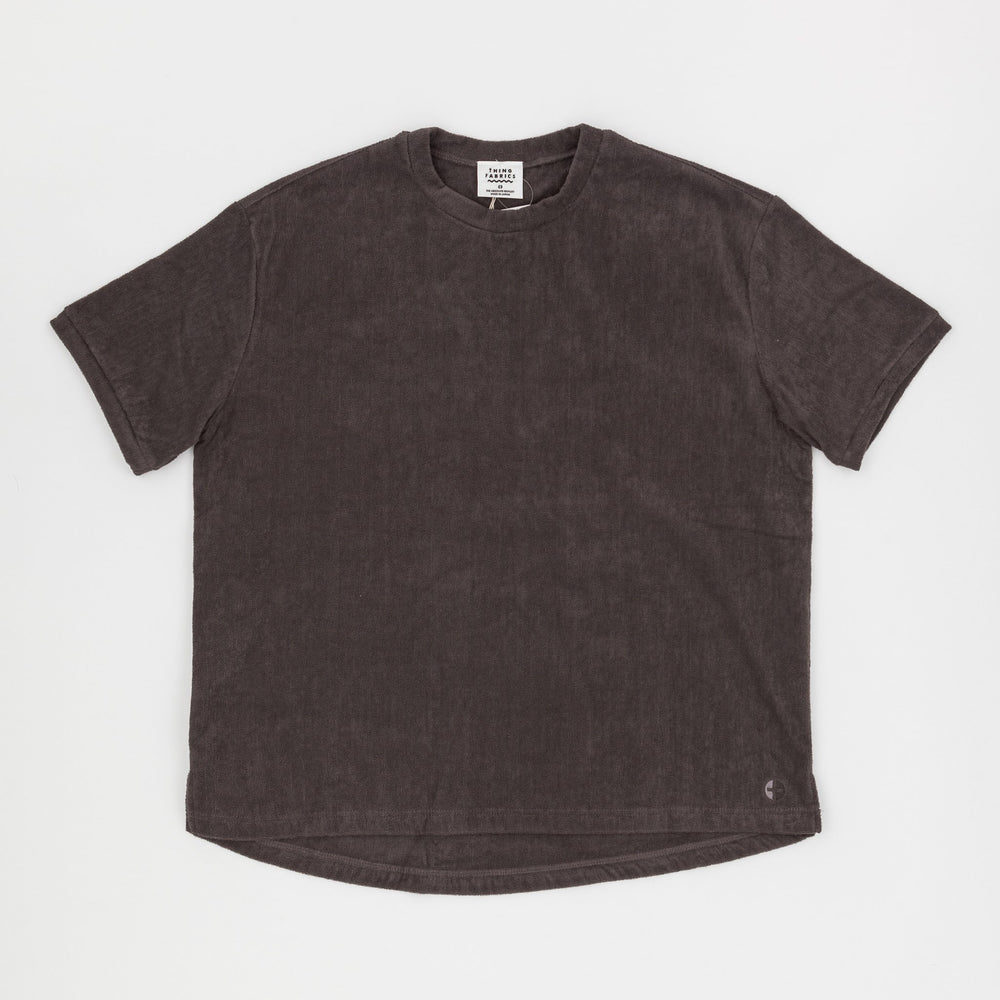 Short Pile T-Shirt (Dark Grey)