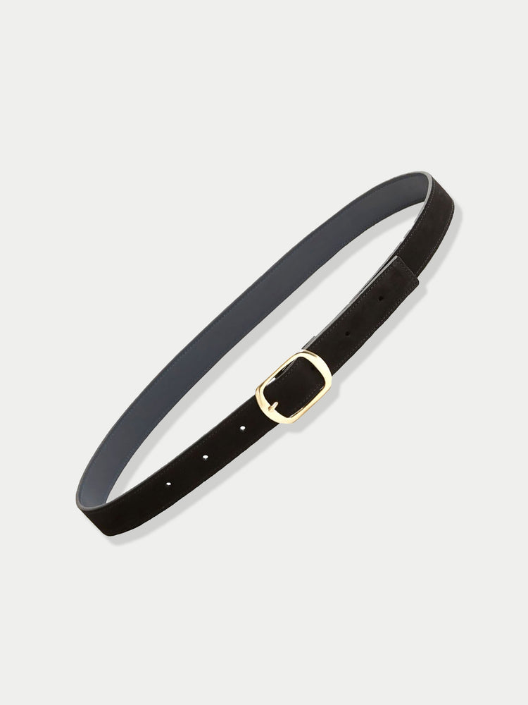 Suede Contrast Belt (Black)