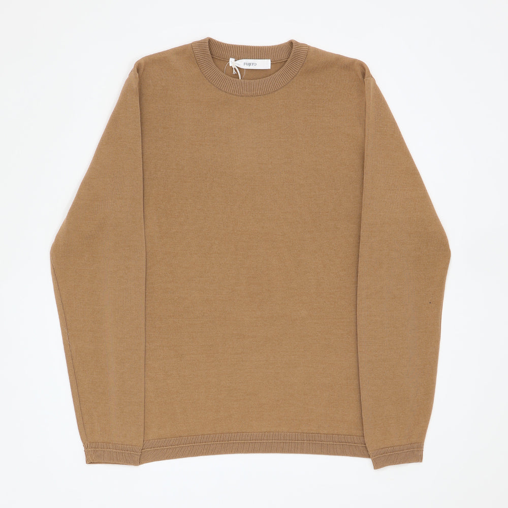 L/S Knit T-Shirt (Camel)