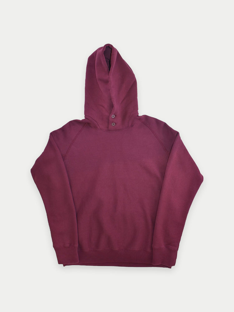 Double-Button Hoodie (Wine)