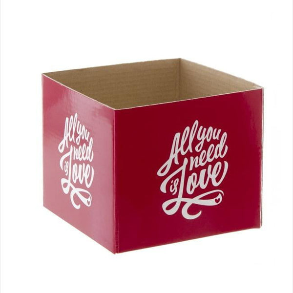 All You Need is Love Red Box Mini (13x12cmH)-Gift Box